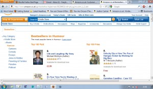 Screenshot of MTM's story rubbing shoulders with books by famous people